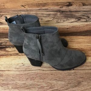 Grey Suede Booties size 8